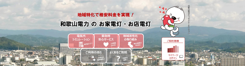 地域特化で格安料金を実現!和歌山電力 の お家電灯・お店電灯